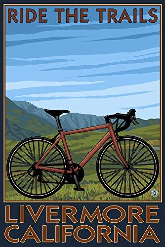 Livermore California Mountain Bike Scene Travel Poster