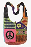 Lungta Hobo Hippie Gypsy Recycled Razor Cut Patch Sling Crossbody Bag Purse Nepal