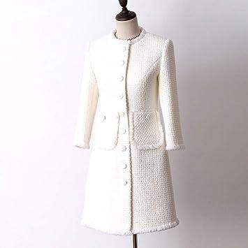 DGFHR Chaqueta De Mujer Chaqueta De Tweed Blanca En La ...