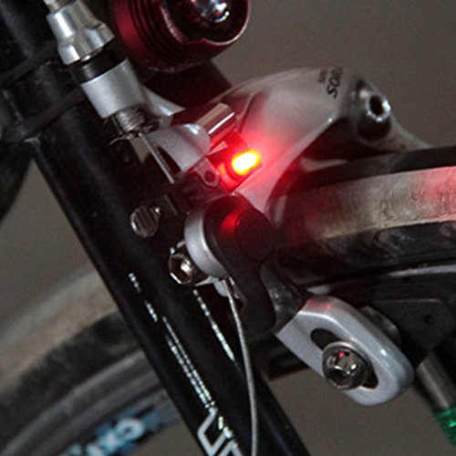 Forfar 20Pcs Mini Bicycle Tail Warning LED Brake Light Safety Light Accessories For Brakes C/V Brake Disk