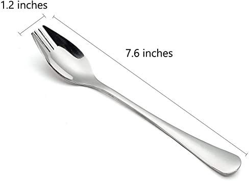 Spork 3-Pack Long Handle and Heavy Duty 18//10 Stainless Steel Sporks for Home Use and Outdoor Camping by KAISHANE