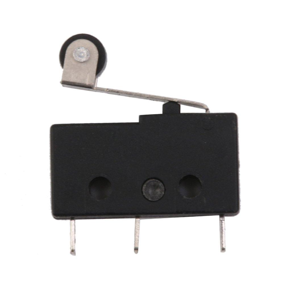 10pcs Tacto Interruptor Kw11-3z 250v 5a Micro Manejar Ronda Palanca De Rodillo 3 Pines