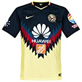 Nike Men's Breathe Club America Home Stadium Soccer Jersey (Medium) Navy Blue, Yellow