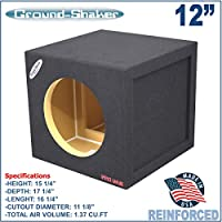 12 Single Sealed Sub Box Pro Bass Reinforced Sub woofer Enclosure
