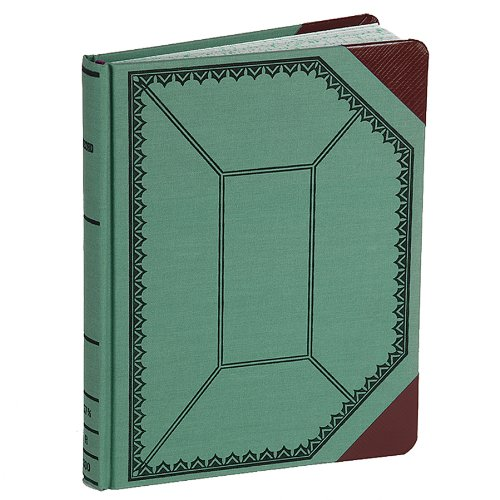 Boorum & Pease Record/Account Book, blue/red cover, Record Rule, 9-5/8 x 7-5/8, 150 Pages (37 3/8-150-R)