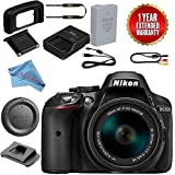 Nikon D5300 DSLR Camera With 18-55mm f/3.5-5.6 AF-P DX VR Lens Bundle (Black)
