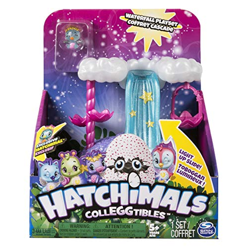 Hatchimals CollEGGtibles  Waterfall Playset with Lights and an Exclusive Season 4 Hatchimals CollEGGtible, for Ages 5 and Up