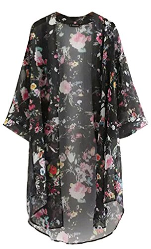 LIZHOUMIL Fashion Women Chiffon Bikini Cover up Kimono