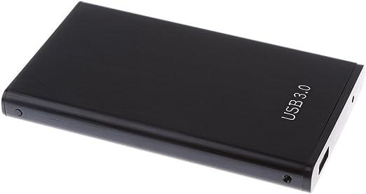 アルミ 2.5インチ ラップトップ用 SATAハードディスク SSD 外部箱 エンクロージャ パーツ - ブラック