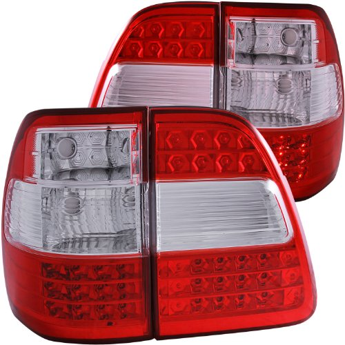 Anzo USA 311094 Toyota Land Cruiser G2 Red/Clear LED Tail Light Assembly - (Sold in Pairs)
