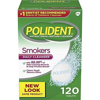 Polident Smokers Antibacterial Denture