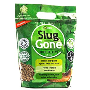 Slug Gone - All Natural Slug and Snail Repellent: Organic, Long Lasting Protection for Plants and Gardens – Weatherproof