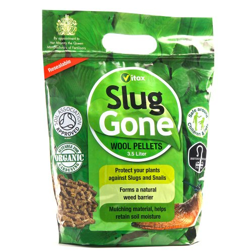 Slug Gone - All Natural Slug and Snail Repellent: Organic, Long Lasting Protection for Plants and Gardens - Weatherproof