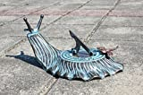 Decorative Brass Garden Outdoor Sundial - Snail with a Little Dragonfly