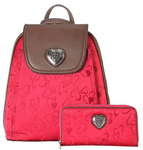 rimen-co-pu-leather-fabric-heart-print-pattern-backpack-wallet-2-pieces-set-accented-with-metal-hear