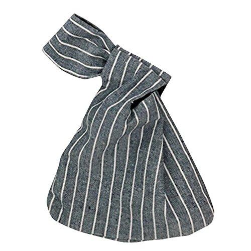 Gespout Handgelenk Paket Handgelenk Tasche Einfache Reihe Knoten Handgelenk Bag Für Spaziergänge Handy Schlüssel Kleingeld Tragetasche Dunkelblau A7muVkHOX