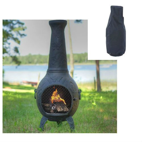 Aluminum Chiminea Aluminum Wood Burning Pyramid Steel: Blue Rooster Butterfly Style Wood Burning Outdoor Metal