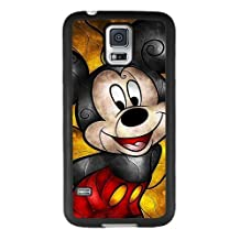 Mickey Mouse Samsung Galaxy S5 Case, Onelee [Never fade] Disney Mickey Mouse Samsung Galaxy S5 Black TPU and PC Case [Scratch proof] [Drop Protection]