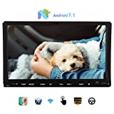 Android Stereo Octa-core 7.1 Nougat system 7inch Sliding Capacitive Touchscreen Headunit support GPS Navigation Bluetooth Wifi/4g/3g/Mirror Link USB/SD Autoradio Map Double din Car DVD Player