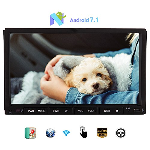 Android Stereo Octa-core 7.1 Nougat system 7inch Sliding Capacitive Touchscreen Headunit support GPS Navigation Bluetooth Wifi/4g/3g/Mirror Link USB/SD Autoradio Map Double din Car DVD Player by EinCar
