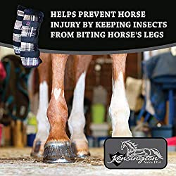 Kensington Natural Horse Fly Boots — Stay-Up Technology — Protection from Insect Bites and UV Rays — Sold in Pairs (2 Boots)