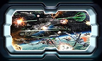 Star Wars 3D Magic Window Wall Smash Wall Art Self Adhesive Sticker Decal V915*
