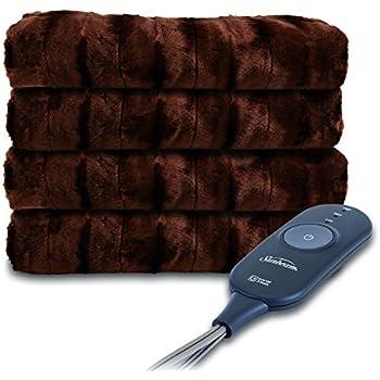 Sunbeam Heated Throw Blanket | LoftTec, 3 Heat Settings, Walnut - TSL8TS-R470-31A00