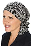 Slip-On Slinky Pre Tied Head Scarf: Scarves for Cancer Patients, Chemo Burgundy Mosaic Floral