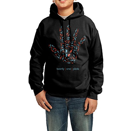 Price comparison product image LULU Twenty One Pilots Hand Men's Custom Long Sleeve Hoodies M Black