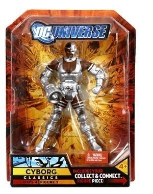 Dc Universe Series 4 Cyborg  Sonic Arm Variant  Action Figure By Dc Comics