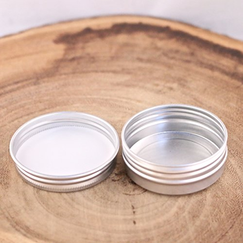 Sealed Metal (1 oz Metal Steel Tin Flat Container with Tight Sealed Twist Screwtop Cover (12)