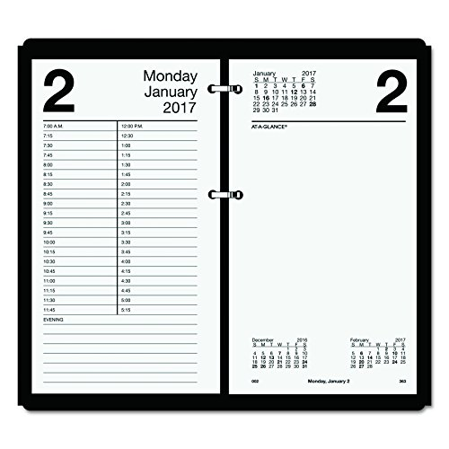 AT-A-GLANCE Daily Desk Calendar 2017 Refill, Large, 12 Months, 4.5 (Large Desk Calendar Base)