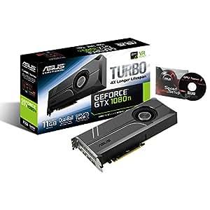 ASUS TURBO-GTX1080TI-11G Graphics Card GeForce GTX 1080 TI 11GB GDDR5X, VR Ready, 5K HD Gaming, HDMI, DisplayPort, Turbo Edition