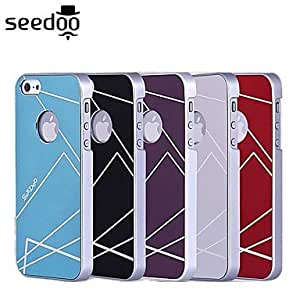 JJE Seedoo Apple Sanded Shell Ultra-Thin Metal Case iPhone 5s , Blue