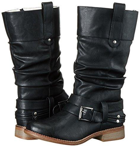 Rieker Noir schwarz Bottes 95678 00 Femme pvw0rpqa