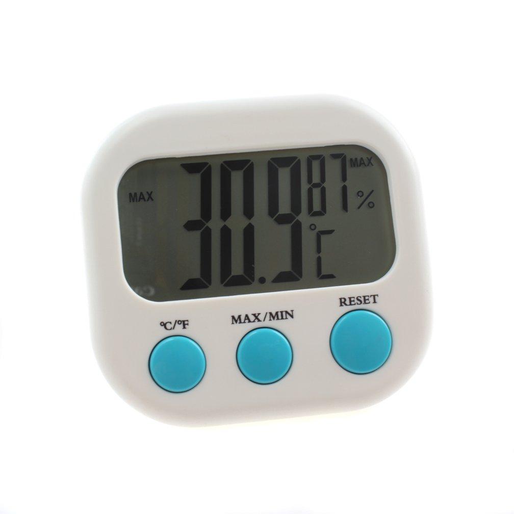 Emours Thermomètre et hygromètre Digital LCD Aquarium Reptile Terrarium Capteur de température, avec ventouse Pet Accessories