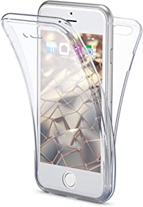 NALIA 360 Degree Case Compatible with iPhone 6 / 6S, Protective Silicone Full Cover Front & Back Slim Mobile Phone Bumper with Screen Protector, Ultra Thin Shockproof Complete Coverage - Transparent