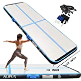 Inflatable Gymnastics Air Track Tumbling Mat 10ft/13ft/16ft for Toddler/Adults, Gym Air Floor Yoga Mat for Outdoor Sports/Training/Cheerleading
