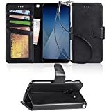 Galaxy A5 2018 Case, Galaxy A8 2018 case, Arae Flip Folio [Kickstand Feature] PU leather wallet case with [4 slot] ID&Credit Cards Pocket for Samsung Galaxy A5 2018/A8 2018 … - black