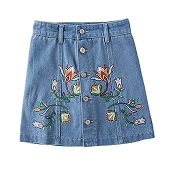 Pantalones Cortos Mezclilla Bordados Florales Pantalones ...