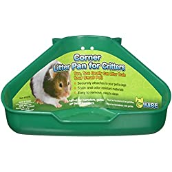 """Ware Bird-Sm An-Corner Litter Pan For Critters- Assorted 6.5x4.5x3"""""""