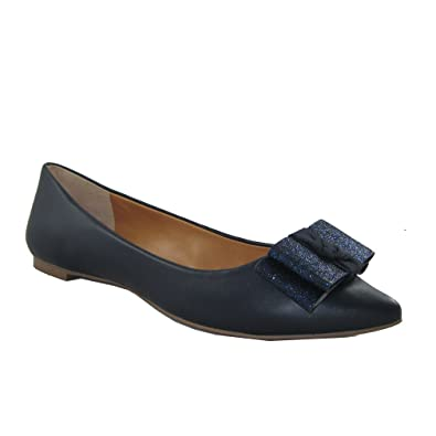 d42dc9139dd4 J. Crew Women s Emery Glitter Bow Flat Shoes Navy Blue US 7 UK 5 EU 37 38   Amazon.co.uk  Shoes   Bags