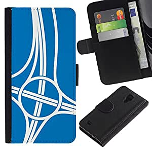 ZCell / Samsung Galaxy S4 IV I9500 / Sport Intersection Road Engineer Blue / Caso Shell Armor Funda Case Cover Wallet / Deporte Intersecció