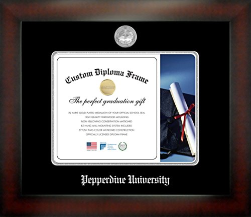 (Celebration Frames Pepperdine University 8½ x 11 Mahogany Finish Infinity Diploma Frame)
