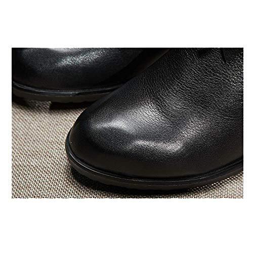 Chaussures Chaussons pour Hauts Glissière Décontracté Brown Femmes à Talons Vintage ZPEDY Fermeture Fw6x1qw