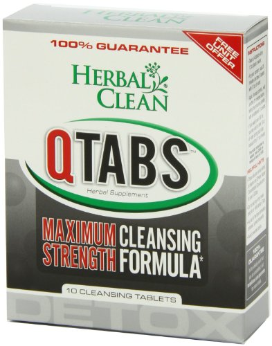 B.N.G. Herbal Clean Detox Q Tabs Force maximale de Formule nettoyante, 10 comte