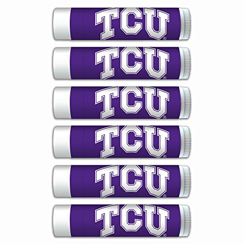$2.00 OFF Texas Christian Horned Frogs Smooth Mint Lip Balm 6-PACK with SPF 15, Beeswax, Coconut Oil, Aloe Vera. NCAA Gifts for Men and Women on Mother's Day, Father's Day, Stocking Stuffers (Frog Mint)
