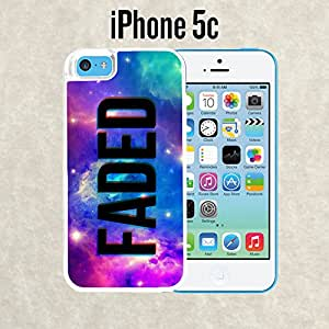 iPhone Case Black Galaxy Nebula for iPhone 5c White 2 in 1 Heavy Duty (Ships from CA)