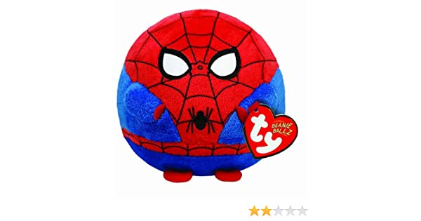 Ty UK Spiderman Beanie Ballz - Peluche redondo (13 cm), diseño de Spiderman: Amazon.es: Juguetes y juegos
