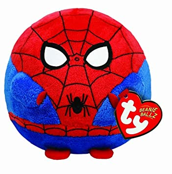 Ty UK Spiderman Beanie Ballz - Peluche redondo (13 cm), diseño de Spiderman